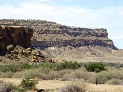 A view of the high mesa, north from Gallo Campground, Chaco, New Mexico - Click for larger image (http://jamesmcgillis.com)