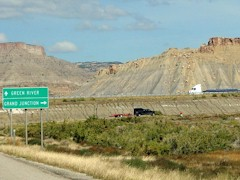 U.S. Hwy 191 North, approaching Crescent Junction, Utah - Click for larger image (https://jamesmcgillis.com)