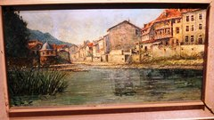 A Costantino Proietto original oil painting of Bad Kreuznach, Germany now owned by the Jenkins Family in Orlando, Florida, USA - Click for larger image (http://jamesmcgillis.com)