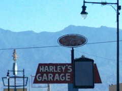 Now closed, Harley's Garage in Mesquite, Nevada was for fifty years a mainstay of the business community - Click for image of its deterioration (http://jamesmcgillis.com)