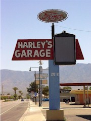 The now defunct Harley's Garage and Ford Parts tower sign in Mesquite, Nevada - Click for larger image (http://jamesmcgillis.com)