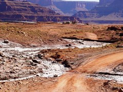 Widespread environmental damage created by in-situ potash mining near Moab, Utah - Click for larger image (http://jamesmcgillis.com)