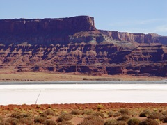 Extensive brine holding ponds at Potash, Utah dominate the environment - Click for larger image (http://jamesmcgillis.com)