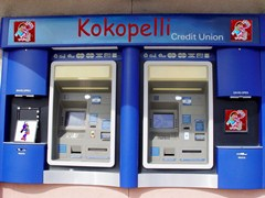 The old outdoor ATM Machines at Kokopelli Federal Credit Union - Click for larger image (https://jamesmcgillis.com)
