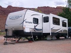 "Site ""E"" at the Moab Rim Campark & Cabins, Moab, Utah - Click for larger image (https://jamesmcgillis.com)"