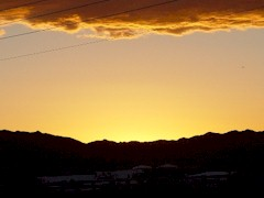 Sunset in the desert, Quartzsite, Arizona - Click for larger image (http://jamesmcgillis.com)