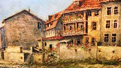 Detail from the C.Proietto oil painting of Bad Kreuznach, Germany, ca 1964 - Click for larger image (http://jamesmcgillis.com)