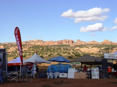 Well organized vendor area at the 24-Hours of Moab, Behind the Rocks, Moab, Utah - Click for larger image (http://jamesmcgillis.com)