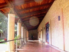 Spanish rancho style colonnade at the Reagan Library, Simi Valley, CA - Click for larger image (https://jamesmcgillis.com)