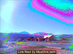 New energy comet (left) and plasma torus appear above Moab Ranch - Click for alternate image of torus energy flow (http://jamesmcgillis.com)