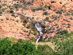 Inflow Waterfall above Ken's Lake, Moab, Utah - Click for larger image (http://jamesmcgillis.com)
