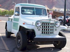 Early 1950's Willys pickup truck parked in Moab, Utah - Click for larger image (http://jamesmcgillis.com)