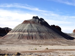 An eroded sandstone landform in Petrified Forest National Park near Holbrook, Arizona testifies the the aridity of the Holbrook Basin - Click for larger image (http://jamesmcgillis.com)