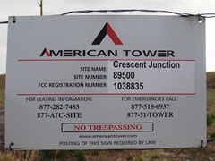 Site information for American Tower's Crescent Junction colocation tower and site - Click for larger image (http://jamesmcgillis.com)