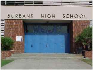 Old Main Entrance - Burbank High School - Click for larger image (http://jamesmcgillis.com)