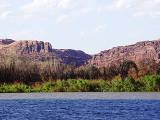 View of the Matheson Wetlands, from Potash Road, at the Portal, Moab, Utah - Click for alternate image (http://jamesmcgillis.com)