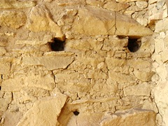 Evocative face appears on the wall of the Chacoan rock house at Gallo Campground - Click for larger image (http://jamesmcgillis.com)