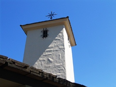 The iconic tower at the Robert Mondavi Winery, as seen from the interior courtyard - Click for larger image (http://jamesmcgillis.com)
