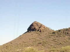 Saguaro cacti appear to be hiking up a volcanic ridge - Click for larger image (http://jamesmcgillis.com)