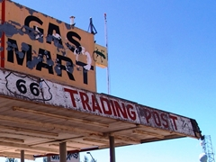 "The ""Gas Mart"" harkens back to the day when old Route 66 was the lifeblood of commerce in Holbrook, Arizona - Click for larger image (http://jamesmcgillis.com)"