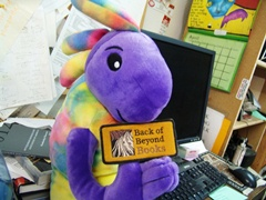 Plush Kokopelli is a big fan of Back of Beyond Books in Moab, Utah - Click for larger image (http://jamesmcgillis.com)