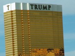 Contrary to Donald Trump's desires, the Trump Hotel was leaning slightly to the left on our most recent visit to Las Vegas - Click for larger image (http://jamesmcgillis.com)