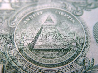 The All-seeing Eye, shown on the reverse of the one dollar bill. - Click for larger image (http://jamesmcgillis.com)