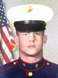 Photo of Corporal Larry L. Maxam, United States Marines (1948 - 1968) - Posthumous recipient of the Congressional Medal of Honor - Click for larger image (http://jamesmcgillis.com)