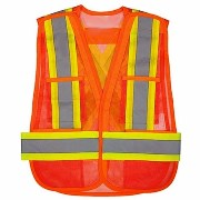 "Orange safety vest similar to one worn by the ""Double Spoiler Bandit"" at the Winona off-ramp near Flagstaff, Arizona - Click for larger image (http://jamesmcgillis.com)"