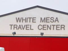 The Ute Mountain Ute Tribe owns the White Mesa Travel Center and convenience store, twelve miles south of Blanding, Utah - Click for larger image (http://jamesmcgillis.com)