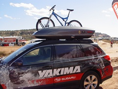 Perenial sponsor, Yakima showed off a rack system on their Subaru - Click for larger image (http://jamesmcgillis.com)