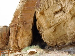 A cave at Gallo Campground, Chaco Canyon, NM - Click for larger image (http://jamesmcgillis.com)