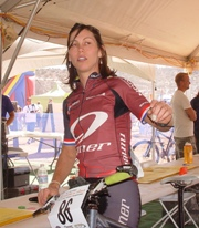 Rebecca Tomaszewski in the scoring tent, during the 24 Hours of Moab 2009 - Click for larger image (http://jamesmcgillis.com)