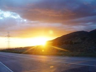 Sundown in the West creates green flash of new energy - Click for alternate, larger image of similar phenomenon at Kodachrome State Park, Utah (https://jamesmcgillis.com)