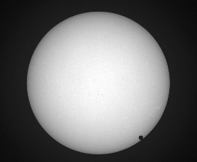 Venus, transiting the Solar Disk - Click for larger image. (http://jamesmcgillis.com)