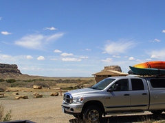 View south from Gallo Campground, including Fajada Butte to the left - Click for larger image (http://jamesmcgillis.com)