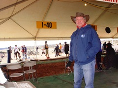 Author (Jim McGillis) in the Scoring Tent at the 24-Hours of Moab 2011 - Click for larger image (http://jamesmcgillis.com)
