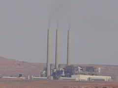 Coal-fired Navajo Generating Station, near Page, Arizona - Click for alternate image of Lake Powell (http://jhamesmcgillis.com)