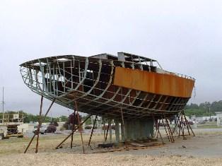 Unfinished Atlantian sailing vessel - Click for larger image. (https://jamesmcgillis.com)