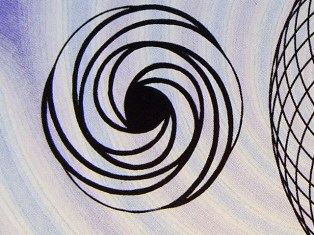 Double energy torus.  Click to see larger image of Earth and Moon double energy torus (http://jamesmcgillis.com