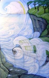 The deluge of Atlantis - Clouds or waves? - Click for larger image. (https://jamesmcgillis.com)