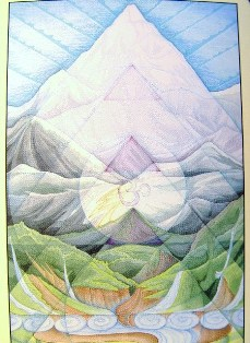 Sacred Geometry Oracle Card - Himalayan Journey - We believe in our dreams Click for larger, alternate view of Nature. (http://jamesmcgillis.com)