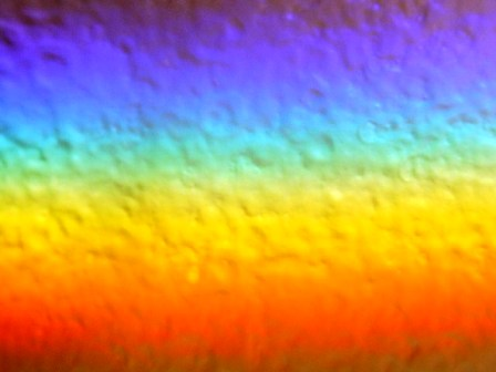 From Infrared to ultraviolet - Chromagraphic Rainbow image of Heart Energy - Click for alternative image of All that Is. (http://jamesmcgillis.com)