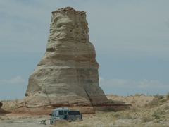 The Elephant Feet - A pair of stone spires on U.S. Highway 160, south of Cow Springs, Arizona - Click for larger image (http://jamesmcgillis.com)