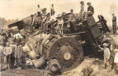In days of old, a train wreck was cause for a community gathering. Today, we try to erase the results and pretend that they did not happen - Click for larger image (https://jamesmcgillis.com)
