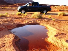 Desert pothole, along the Shafer Trail, Moab, Utah - Click for larger image (http://jamesmcgillis.com)