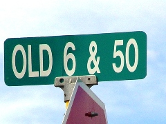 Turn east at the Old Hwy. US 6 & 50 street sign, as identified on the Google Map - Click for larger image (http://jamesmcgillis.com)