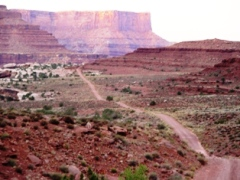 A look back down the Shafer Trail, near Moab, Utah - Click for larger image (https://jamesmcgillis.com)