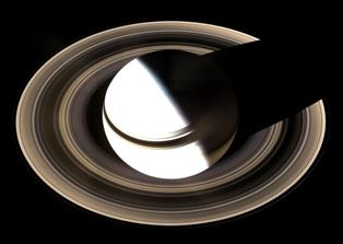 "Planet Saturn, viewed from ""above"" - Click for larger image (http://jamesmcgillis.com)"