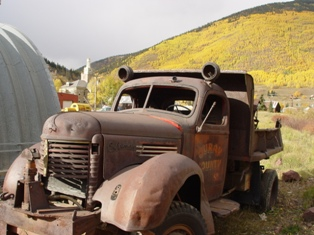 Derelict Ouray County Coleman snowplow dump-truck, Silverton, Colorado - Click for larger image (http://jamesmcgillis.com)
